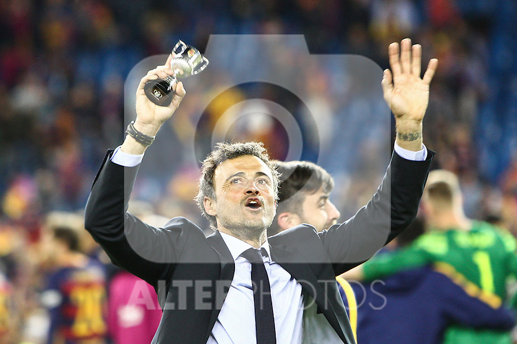 FC Barcelona's Luis Enrique  during Spanish Kings Cup Final match. May 22,2016. (ALTERPHOTOS/Rodrigo Jimenez)