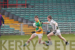 Castlegregory's Alan Fitzgerald and Longwood's Eoin Lynch.