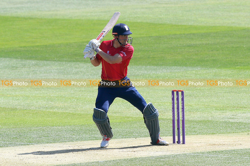 Alastair Cook hits four runs for Essex during Essex Eagles vs Sussex Sharks, Royal London One-Day Cup Cricket at The Cloudfm County Ground on 10th May 2017