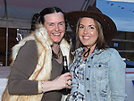 Dara Burke and Ciara Carberry pictured at the barn dance at Oberstown farm. Photo:Colin Bell/pressphotos.ie