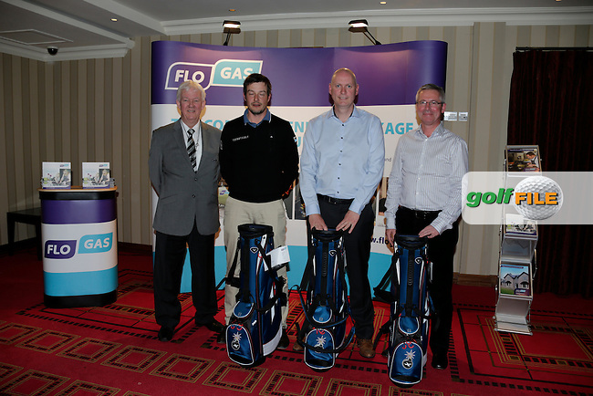 Second Place Team with (Pro) Simon Thornton, Amatures Liam Murphy, Bill Connolly and John Rooney Flo Gas and Michael McCumiskey PGA.<br />