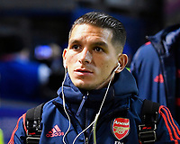 Lucas Torreira of Arsenal during Portsmouth vs Arsenal, Emirates FA Cup Football at Fratton Park on 2nd March 2020
