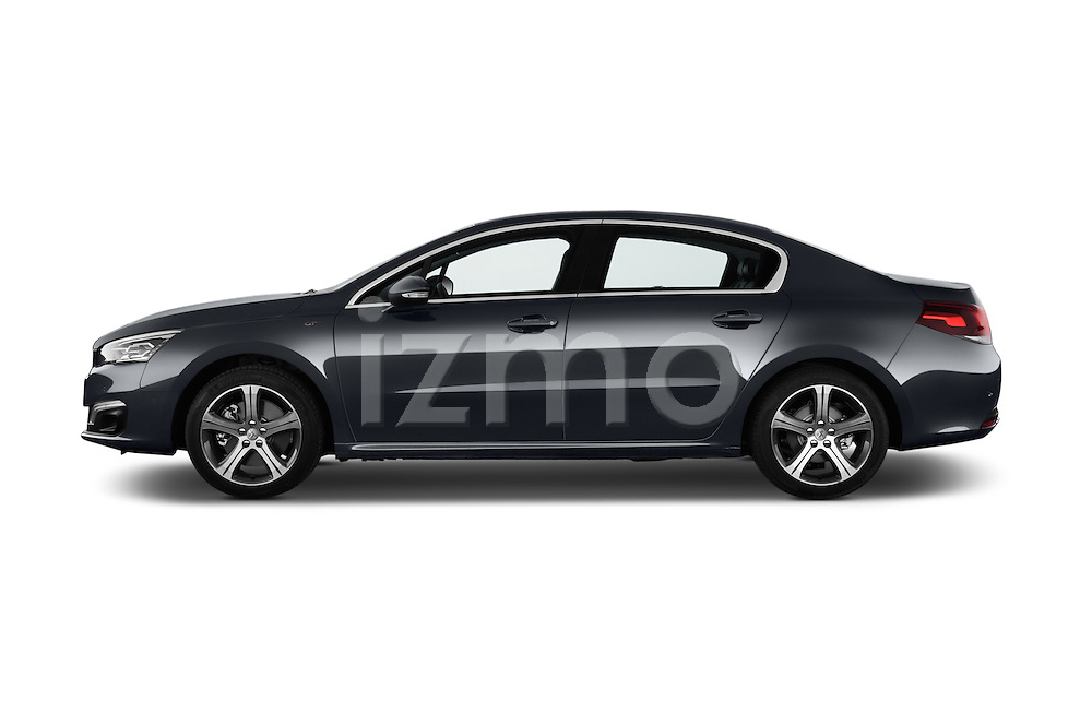 Car Driver side profile view of a 2015 Peugeot 508 GT 4 Door Sedan 2WD Side View