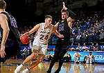 BROOKINGS, SD - NOVEMBER 6: Mike Daum #24 from South Dakota State University drives to the basket against Alessandro Lever #25 from Grand Canyon University during their game Tuesday night at Frost Arena in Brookings, SD. (Photo by Dave Eggen/Inertia)