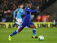 Leicester City 's Kelechi Iheanacho breaks<br /> <br /> Photographer Andrew Kearns/CameraSport<br /> <br /> English League Cup - Carabao Cup Quarter Final - Leicester City v Manchester City - Tuesday 18th December 2018 - King Power Stadium - Leicester<br />  <br /> World Copyright © 2018 CameraSport. All rights reserved. 43 Linden Ave. Countesthorpe. Leicester. England. LE8 5PG - Tel: +44 (0) 116 277 4147 - admin@camerasport.com - www.camerasport.com
