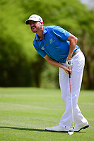 Jimmy Walker (USA) hits his second shot on 8 during round 1 of the Valero Texas Open, AT&amp;T Oaks Course, TPC San Antonio, San Antonio, Texas, USA. 4/20/2017.<br /> Picture: Golffile | Ken Murray<br /> <br /> <br /> All photo usage must carry mandatory copyright credit (&copy; Golffile | Ken Murray)