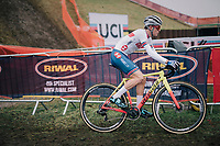 Tom Pidcock (GBR) dominating the Men&rsquo;s U23 race &gt; becoming the new U23 World Champion<br /> <br /> UCI 2019 Cyclocross World Championships<br /> Bogense / Denmark<br /> <br /> &copy;kramon
