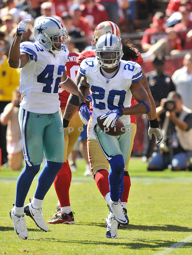 ALAN BALL, of the Dallas Cowboys, in action during the Cowboy's game against the 49ers on September 18, 2011 at Candlestick Park in San Francisco, CA. The Cowboys beat the 49ers 27-24 in OT.