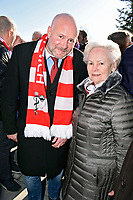 6th February 2020, Munich Riem Airport, Munich, Germany; Christian Vorlander and Franziska Memmel at the laying of the foundation stone for a commemorative display case to commemorate the 62nd anniversary of the air crash at the former Munich Riem Airport, in which 23 people died, including eight Manchester United footballers