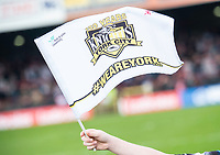 Picture by Allan McKenzie/SWpix.com - 22/04/2018 - Rugby League - Ladbrokes Challenge Cup - York City Knight v Catalans Dragons - Bootham Crescent, York, England - York City Knights, flag.