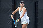 Christina Rosca of the Vanderbilt Commodores during the match at #3 doubles against the Georgia Tech Yellow Jackets during the semifinals at the 2018 NCAA Women's Tennis Championship at the Wake Forest Tennis Center on May 21, 2018 in Winston-Salem, North Carolina. The Commodores defeated the Yellow Jackets 4-2. (Brian Westerholt/Sports On Film)