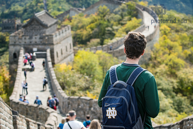 October 15, 2017; Great Wall of China (Photo by Matt Cashore/University of Notre Dame)