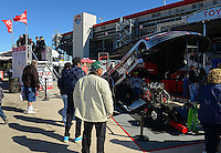 Oct. 26, 2012; Las Vegas, NV, USA: NHRA Toyota display during qualifying for the Big O Tires Nationals at The Strip in Las Vegas. Mandatory Credit: Mark J. Rebilas-