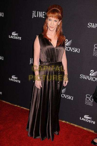 KATHY GRIFFIN.11th Annual Costume Designers Guild Awards at the Four Seasons Beverly Wilshire Hotel, Beverly Hills, California, USA..February 17th, 2009.full length black brown sleeveless dress long maxi rope belt .CAP/ADM/BP.©Byron Purvis/AdMedia/Capital Pictures.