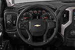 Car pictures of steering wheel view of a 2019 Chevrolet Silverado-1500 WT 4 Door Pick-up Steering Wheel