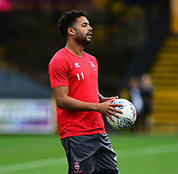 Lincoln City's Bruno Andrade during the pre-match warm-up<br /> <br /> Photographer Andrew Vaughan/CameraSport<br /> <br /> The EFL Sky Bet League Two - Port Vale v Lincoln City - Saturday 13th October 2018 - Vale Park - Burslem<br /> <br /> World Copyright © 2018 CameraSport. All rights reserved. 43 Linden Ave. Countesthorpe. Leicester. England. LE8 5PG - Tel: +44 (0) 116 277 4147 - admin@camerasport.com - www.camerasport.com