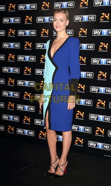 LONDON, ENGLAND - MAY 06:  Yvonne Strahovski attends the UK premiere of '24: Live Another Day' at Old Billingsgate Market on May 6, 2014 in London, England<br /> CAP/ROS<br /> &copy;Steve Ross/Capital Pictures