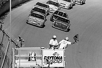 Bobby Hillin Jr. and Dick Trickle lead the field to a restart, Daytona 500, NASCAR Winston Cup race, Daytona International Speedway, Daytona Beach, FL, February 1994(Photo by Brian Cleary/bcpix.com)