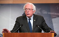 "United States Senator Bernie Sanders (Independent of Vermont) publicly apologizes to female staff members from his 2016 presidential campaign who have said they were sexually harassed by co-workers in the US Capitol in Washington, DC on Thursday, January 10, 2019. In his apology, Sanders thanked the women ""from the bottom of my heart for speaking out"".  Earlier in the day it was reported that his former campaign manager in Iowa, Robert Becker, had been named in a $30,000 federal discrimination settlement with two former employees.<br /> Credit: Ron Sachs / CNP /MediaPunch"