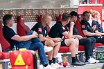 Ratlosigkeit auf der Werder Bank Florian Kohfeldt (Trainer SV Werder Bremen), Thomas Horsch (Co-Trainer SV Werder Bremen), Tim Borowski (Co-Trainer SV Werder Bremen), Frank Baumann (Geschäftsführer Fußball Werder Bremen), Christian Vander (Torwart-Trainer SV Werder Bremen)<br /> <br /> <br /> Sport: nphgm001: Fussball: 1. Bundesliga: Saison 19/20: 33. Spieltag: 1. FSV Mainz 05 vs SV Werder Bremen 20.06.2020<br /> <br /> Foto: gumzmedia/nordphoto/POOL <br /> <br /> DFL regulations prohibit any use of photographs as image sequences and/or quasi-video.<br /> EDITORIAL USE ONLY<br /> National and international News-Agencies OUT.