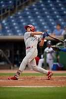 Clearwater Threshers first baseman Madison Stokes (17) during a Florida State League game against the Dunedin Blue Jays on April 4, 2019 at Spectrum Field in Clearwater, Florida.  Dunedin defeated Clearwater 11-1.  (Mike Janes/Four Seam Images)