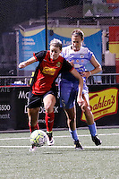 Rochester, NY - Friday July 01, 2016: Western New York Flash defender Alanna Kennedy (8), Chicago Red Stars defender Katie Naughton (5) during a regular season National Women's Soccer League (NWSL) match between the Western New York Flash and the Chicago Red Stars at Rochester Rhinos Stadium.
