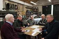 Michael Caine, Tom Courtenay, Paul Whitehouse, Jim Broadbent &amp; Ray Winstone<br /> King of Thieves (2018) <br /> *Filmstill - Editorial Use Only*<br /> CAP/RFS<br /> Image supplied by Capital Pictures