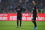 Rafael Leao and Zlatan Ibrahimovic of AC Milan pictured during the Serie A match at Giuseppe Meazza, Milan. Picture date: 6th January 2020. Picture credit should read: Jonathan Moscrop/Sportimage