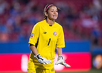 Frisco, TX - February 15, 2016: Costa Rica defeated Mexico 2-1 at the CONCACAF Women's Olympic Qualifying Tournament in Toyota Stadium.