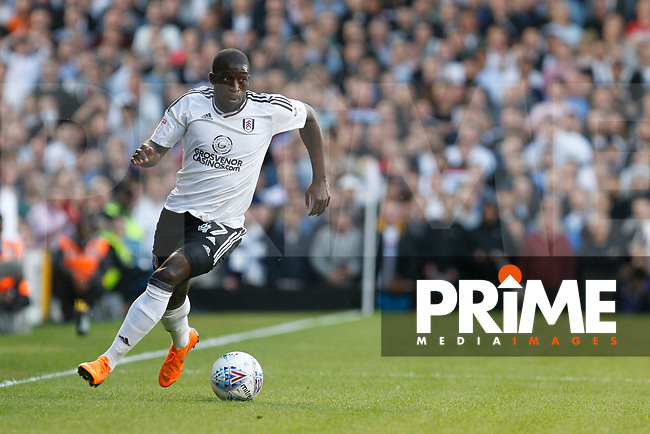 Aboubakar Kamara of Fulham during the Sky Bet Championship play off semi final 2nd leg match between Fulham and Derby County at Craven Cottage, London, England on 15 May 2018. Photo by Carlton Myrie / PRiME Media Images.