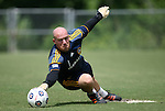 28 May 2012: Bill Gaudette. The Los Angeles Galaxy held a training session on Field 6 at WakeMed Soccer Park in Cary, NC the day before playing in a 2012 Lamar Hunt U.S. Open Cup third round game.