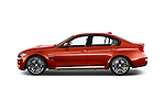 Car Driver side profile view of a2015 BMW M3 4 Door Sedan Side View