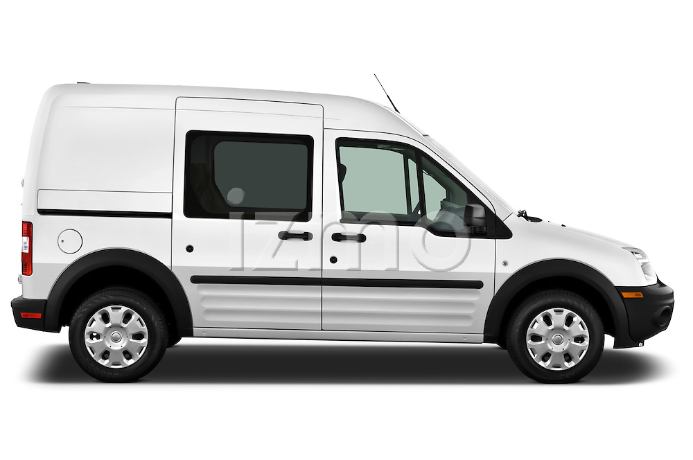 Passenger side profile view of a 2010 Ford Transit XL Wagon.