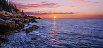 The Atlantic Coastline at Sunrise Opposite the Bass Harbor Head Light, Acadia National Park, Maine, USA