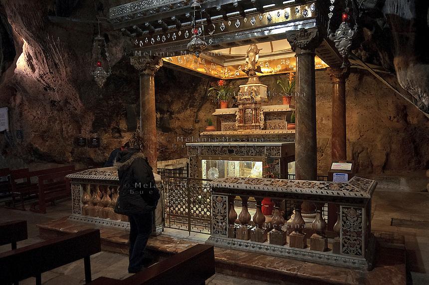 Palermo, sanctuary of Saint Rosalia, .<br /> Palermo, santuario di Santa Rosalia.