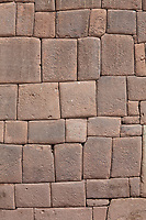 Detailed masonry work of the Inca empire, Lima, Peru, South America