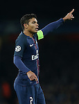 PSG's Thiago Silva in action during the Champions League group A match at the Emirates Stadium, London. Picture date November 23rd, 2016 Pic David Klein/Sportimage