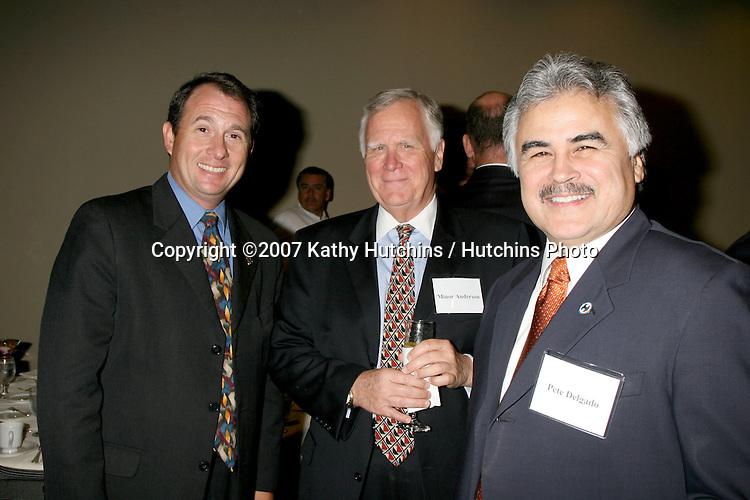 Larry King Jr,  Minor Anderson, and Pete Delgado.Southern California Health Leadership Panel.Keck School of Medicine of USC.Los Angeles,  CA.November 8, 2007.©2007 Kathy Hutchins / Hutchins Photo....