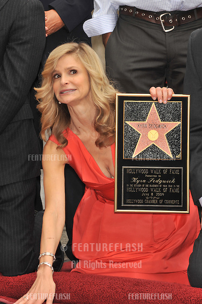 "Kyra Sedgwick, star of ""The Closer,"" on Hollywood Boulevard where she was honored with the 2,384th star on the Hollywood Walk of Fame..June 8, 2009  Los Angeles, CA.Picture: Paul Smith / Featureflash"