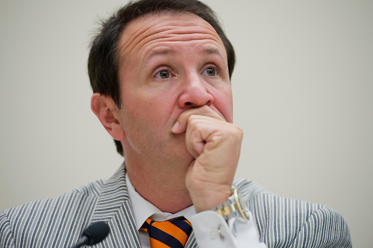 UNITED STATES - MAY 09:  Rep. Jeff Landry, R-La., attends a forum in Rayburn called a Conversations with Conservatives to discuss issues including appropriations and the upcoming reconciliation package. (Photo By Tom Williams/CQ Roll Call)