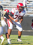 Palos Verdes, CA 10/09/15 - Soane Takau (Morningside #75) in action during the Morningside - Peninsula varsity football game.  Morning side defeated Peninsula 24-21.