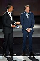 23.02.2013. Nice, France. UEFA Drawing fo the 2016 UEFA EURO Championships. Ruud Gullit, Andreas Kopke durant