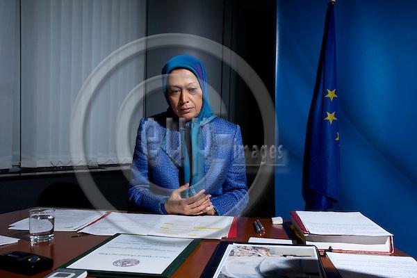 BRUSSELS - BELGIUM - 28 MAY 2008 -- Maryam RAJAVI, President-Elect of the National Council of Resistance of Iran.  Photo: Erik Luntang/EUP-IMAGES