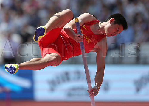 August 6th 2017, London Stadium, East London, England; IAAF World Championships, Day 3; Jie Yao of China competing in the Men's Pole Vault Qualification
