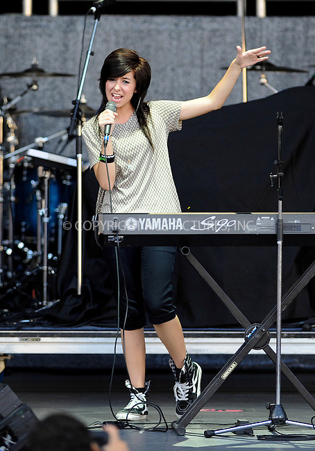 WWW.ACEPIXS.COM<br /> <br /> June 10 2016<br /> <br /> Former 'The Voice' TV show conestant Christina Grimmie was shot dead at a concert in Orlando on June 10 2016 in orlando, Florida. Pictured here performing in Boca Raton in 2011.<br /> <br /> By Line: Solar/ACE Pictures<br /> <br /> <br /> ACE Pictures, Inc.<br /> tel: 646 769 0430<br /> Email: info@acepixs.com<br /> www.acepixs.com