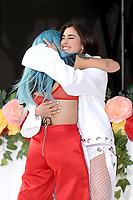 www.acepixs.com<br /> June 9, 2017 New York City<br /> <br /> Halsey and Lauren Jauregui performing on NBC's 'Today' at Rockefeller Plaza on June 9, 2017 in New York City. <br /> <br /> Credit: Kristin Callahan/ACE Pictures<br /> <br /> Tel: (646) 769 0430<br /> e-mail: info@acepixs.com