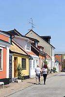 Bunte Häuser in der Skansgatan, Ystad, Provinz Skåne (Schonen), Schweden, Europa<br /> houses at Skansgatan  in Ystad, Sweden