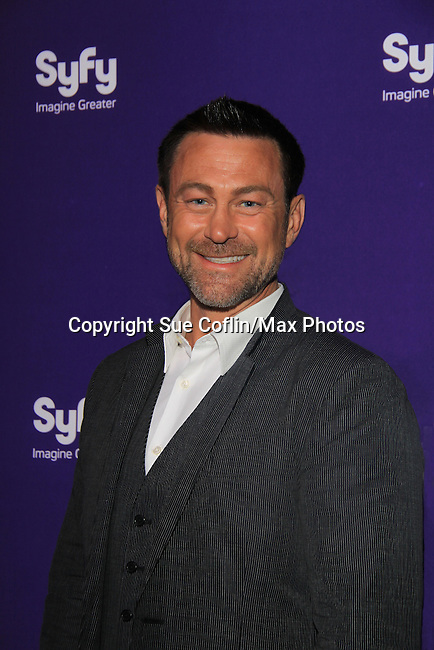 Grant Bowler - Defiance at SYFY 2013 Upfront Event on April 8, 2013 at Silver Screen Studios, NYC, NY (Photo by Sue Coflin/Max Photos)...................... (Photo by Sue Coflin/Max Photos)