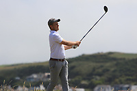 Robbie Pierse (Grange) on the 17th tee during Round 2 - Strokeplay of the North of Ireland Championship at Royal Portrush Golf Club, Portrush, Co. Antrim on Tuesday 10th July 2018.<br /> Picture:  Thos Caffrey / Golffile
