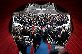 United States President Barack Obama shakes hands as he leaves after the ceremonial swearing-in at the U.S. Capitol during the 57th Presidential Inauguration in Washington, Monday, January 21, 2013.   .Credit: Evan Vucci / Pool via CNP